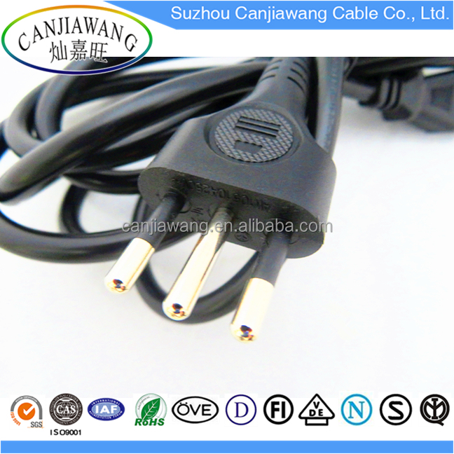 Wholesale Italy standard AC power cord plugs, induction cooker, the best copper power cable hot sales