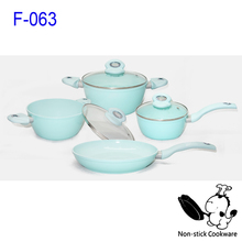 New Korea durable color ceramic coating cookware sets
