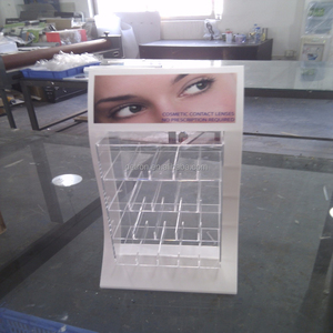 Top sale contact lenses contact lens display stand & counter top contact lens display case & acrylic contact lenses display
