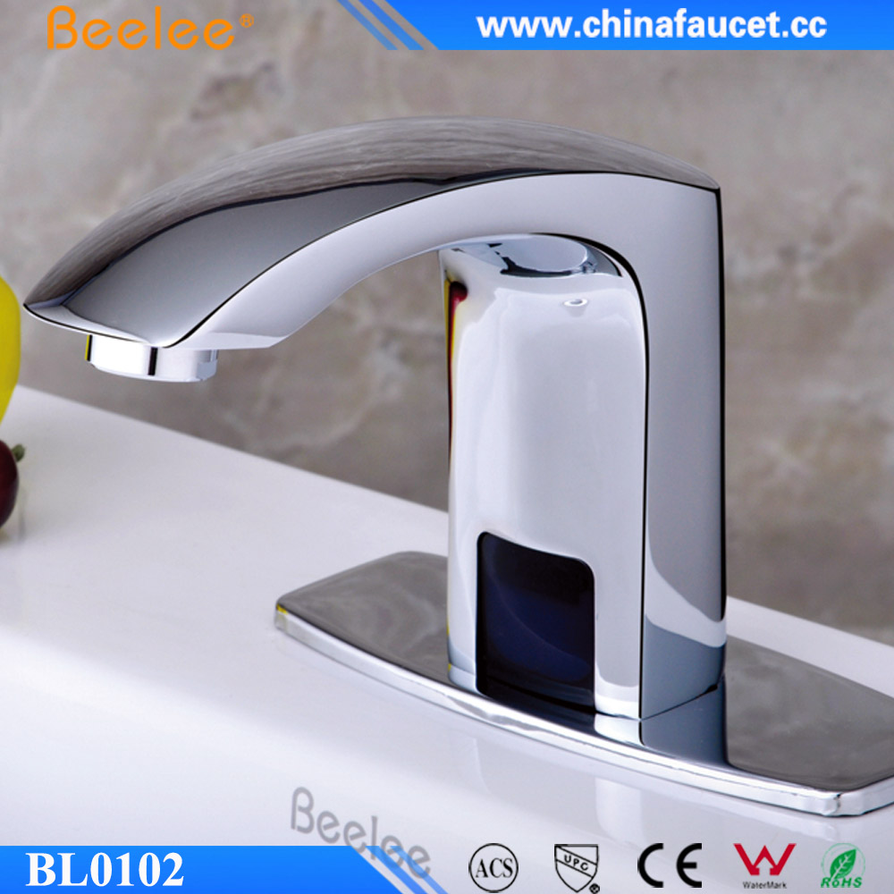 Brass Chrome Infrared Touch Free Faucet Inductive Wash Basin Faucet
