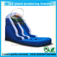 high quality inflatable water slides wholesale with pool