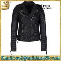 OEM factory price leather jacket men, custom leather jacket with polar fleece lining, women leather jacket with fur collar