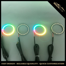Magic chasing color 4 rings 60mm angel eyes for hyundai headlight