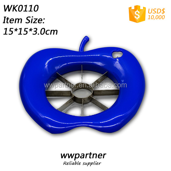 Plastic Apple Slicer Cutter with a Apple Hole to Hang