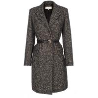 Women's Grey Tweed Wrap Coat With Belt