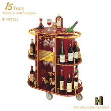 hotel wine trolley/ liquor cart/ wine service cart