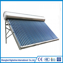 Hot Sell hot calentador solar de agua with stainless steel non-pressure all water heaters