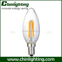 UL Chandelier led e14 bulb b15 led lamp c35 led filament candle bulb