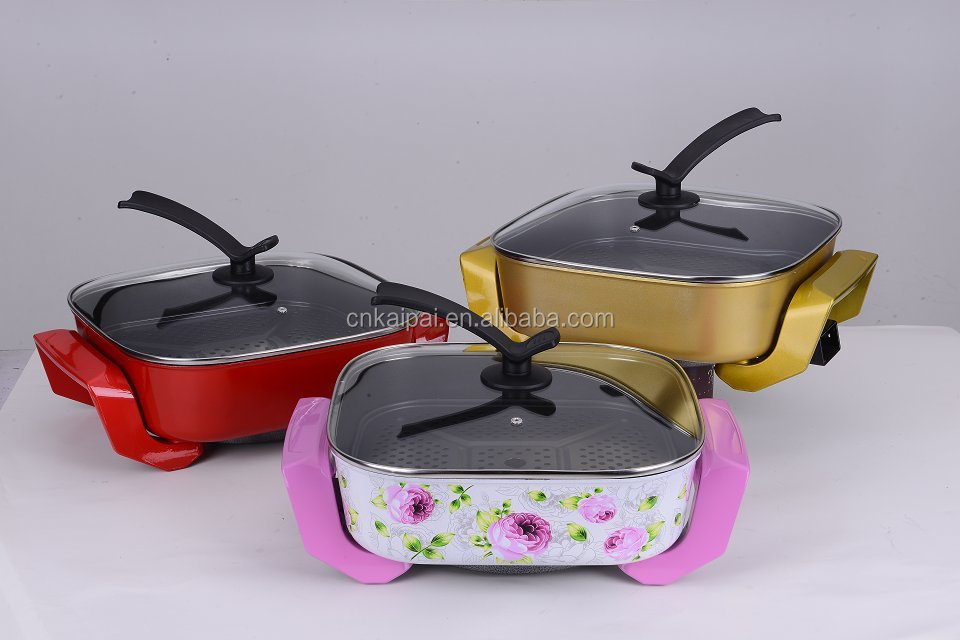 Multi-function Korean Electric Grill Pan , Multifunctional Cooking , multi-function electric pizza pan