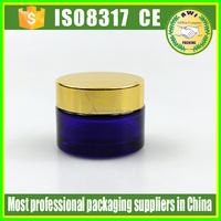 30ml glass cosmetic cobalt blue jars