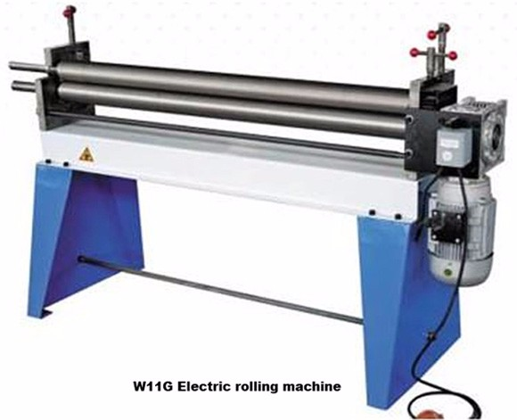 W11-2*1000 3 Rollers  manual Sheet Metal Rolling and bending machine