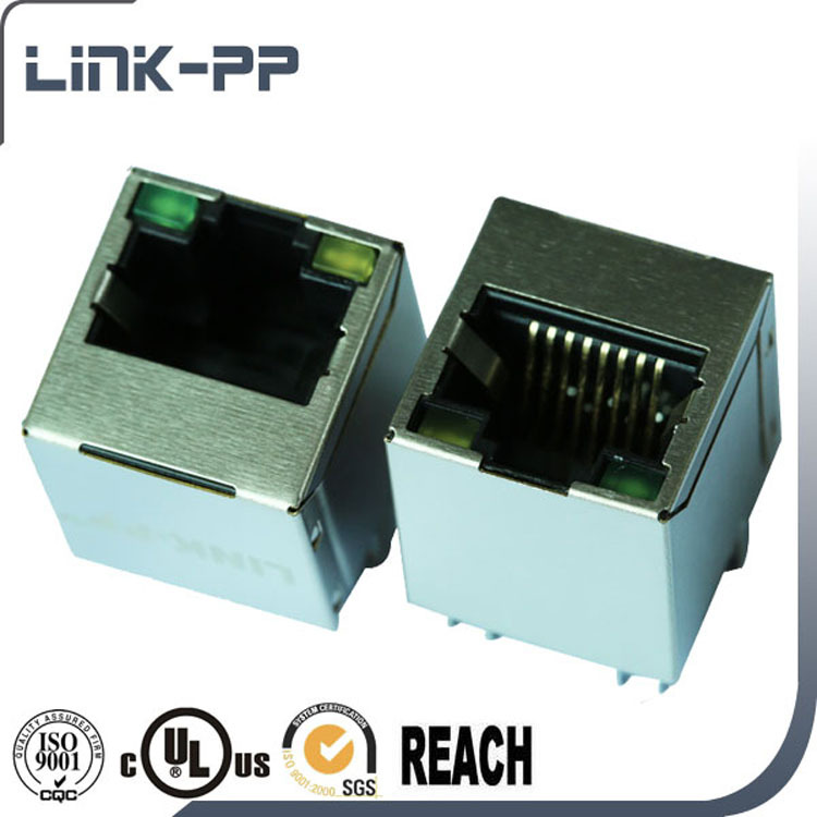 SI-46001-F 10 / 100Base-T 8P8C Vertical RJ45 Connector