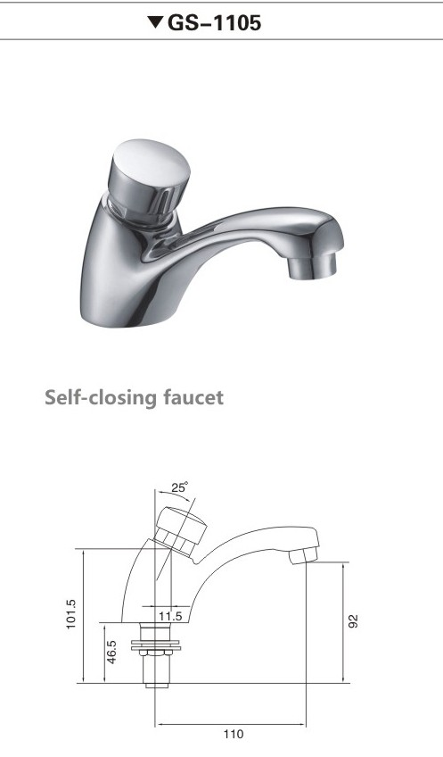 Time-delay basin tap