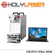 20W Optical portable fiber laser marking machine make colors for metal