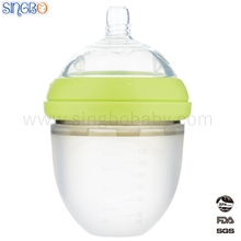 FDA Certificate 120ml Super Wide Neck Silicone Baby Bottle