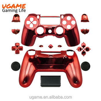High quality chrome red custom controller shell for ps4