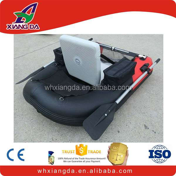 New inflatable fishing float tube with oars
