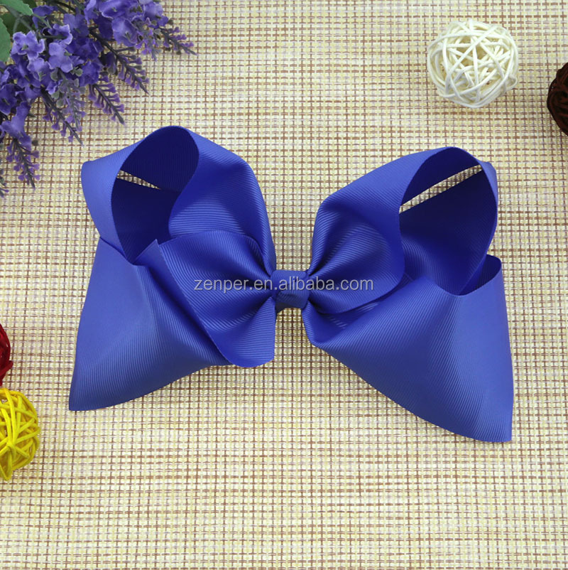 New 12 colors 7.5cm large baby bows bowknot tie headband hair pins hair bows with alligator clips