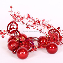 Wholesale 2017 New Design 5-6-8cm Christmas Tree Decorative Plastic Beads String
