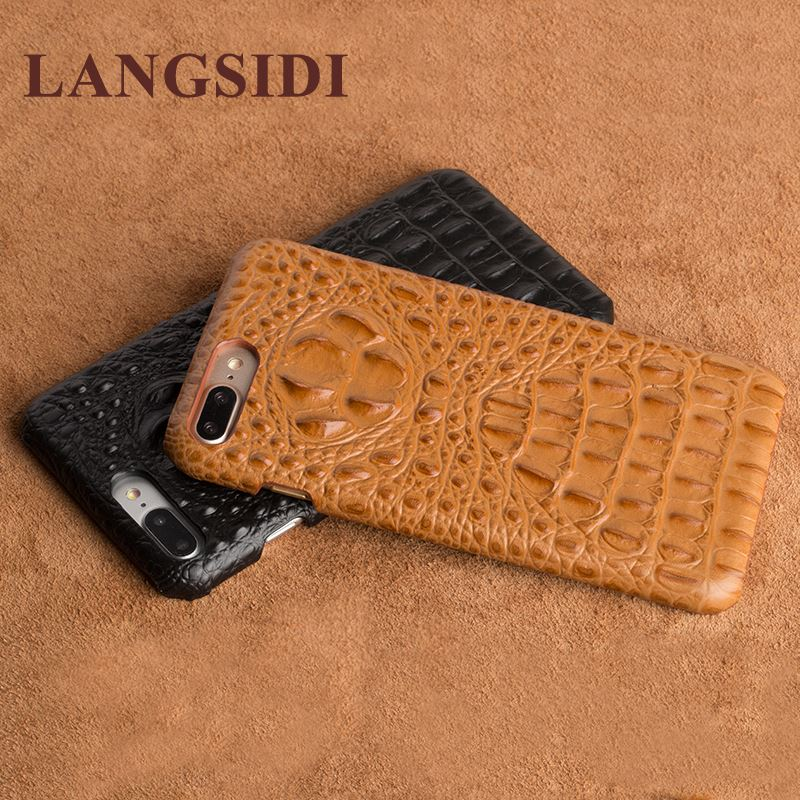 For LG G2 F320 D800 D802 F320S <strong>K</strong> L Real Calf leather Back Cover Case/crocodile texture Leather Case