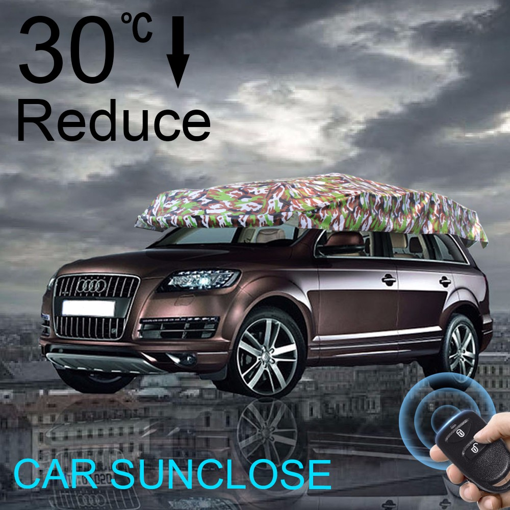 SUNCLOSE Car Roof Top Tent Sun Shelter For Beach Camping Garage Canvas