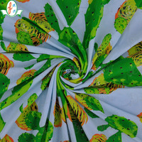 green cactus printing high quality fabrics textile China supplier