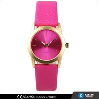 simple PU leather band watch ladies fashion watch latest