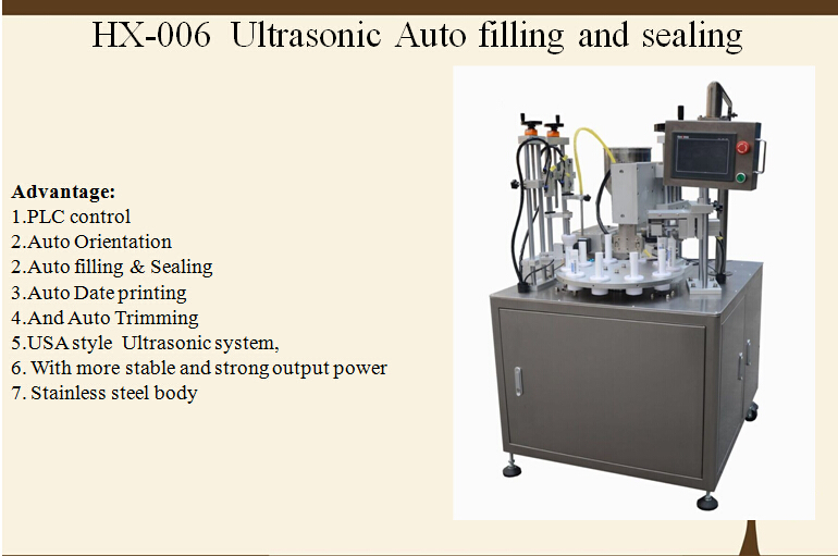 Ultrasonic Automatic Plastic tube filling and sealing machine with CE