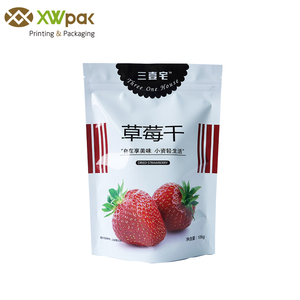 Resealable Zippered White Plastic Bags For Food Packaging