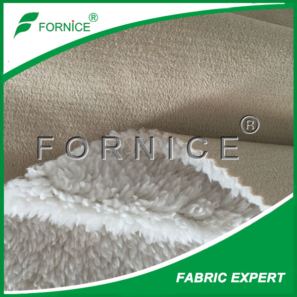 China manufacture 100% polyester apparel Textiles Accessories and fabric suede for coat