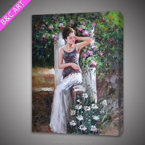modern abstract canvas art beautiful girl sex oil painting from Dafen oil painting