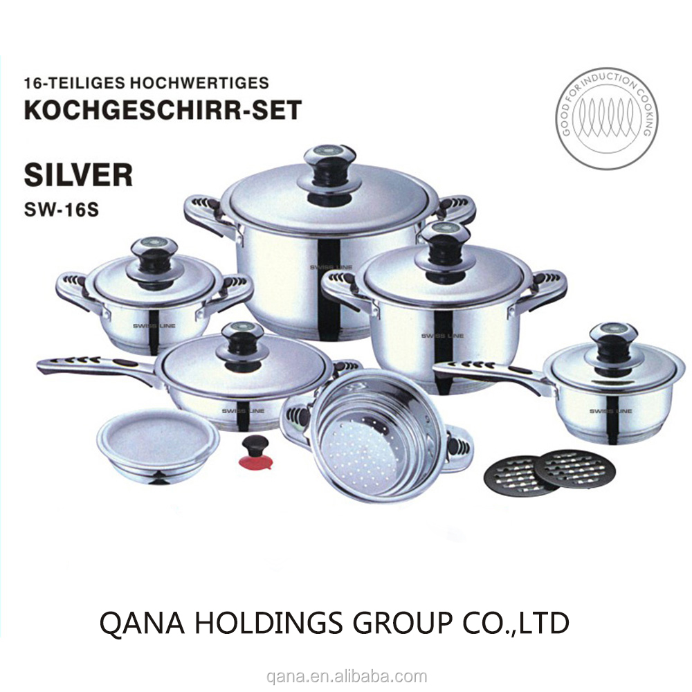 promotional Swiss line kitchenware accessories/cookware sets