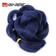 165g Solid Color Blue Black Grey Color Synthetic Hair Bulk Jumbo Braid high temperature Synthetic Hair Weaves