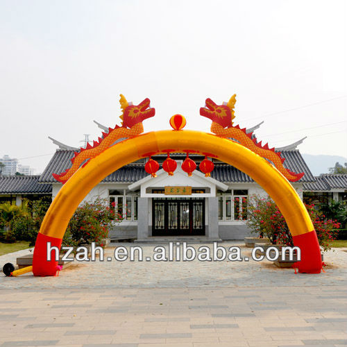 Inflatable Chinese Dragon Arch
