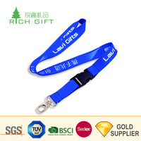 Wholesale cheap custom sublimation printed cool silicone rubber lanyard with safety buckle