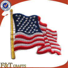 custom USA flag design country label computer embroidery patch biker
