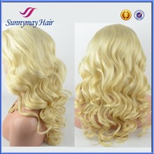 Qingdao Sunnymay Stock Peruvian Virgin Hair #613 Blonde Human Hair Full Lace Wigs Wholesale