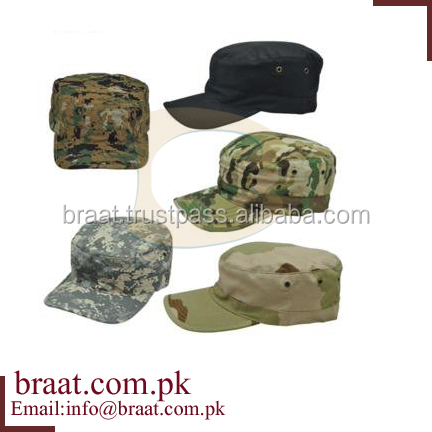 custom 5 panel leather peak camo military hat/fashion flat top designer camo military hats and caps/new cotton military camo hat