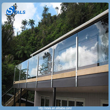 2015 Stals frameless glass simplicity garde corps with stainless steel baluster