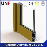 Different Surface Processing Extruded Aluminum door Frame