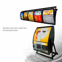 Size 80x60cm or customized Double sides LED menu light box Manual rotation menu light box for fast food <strong>advertising</strong>