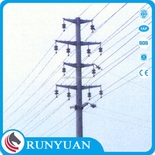 electric steel pole used for high voltage power transmission tower