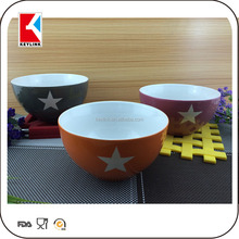 bulk oem design printed white stoneware cereal bowl factory ceramic soup bowl coconut