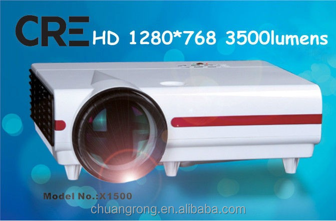Teaching school&presentation office projector for hot sale with 1280*768p,3500lumen patched android system LED smart LCD protect