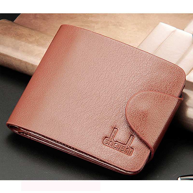Multifunctional Men Wallet Cross Fashion Multi Photo Card Holder Three Fold Purse