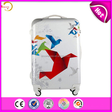 Customized PC durable trolley travel suitcase luggage for girls made in china
