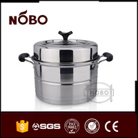 Hot product large stainless steel two layer electric steamer pot