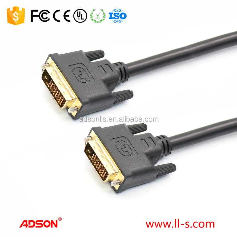 DVI M/M High quality ADSON 24+1 Male to Male DVI cable for computer TV