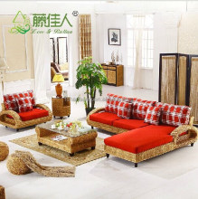 Modern Interior Wicker Handicraft Hand Woven Living Room Sofa Couch Set Natural Rattan Indoor Furniture