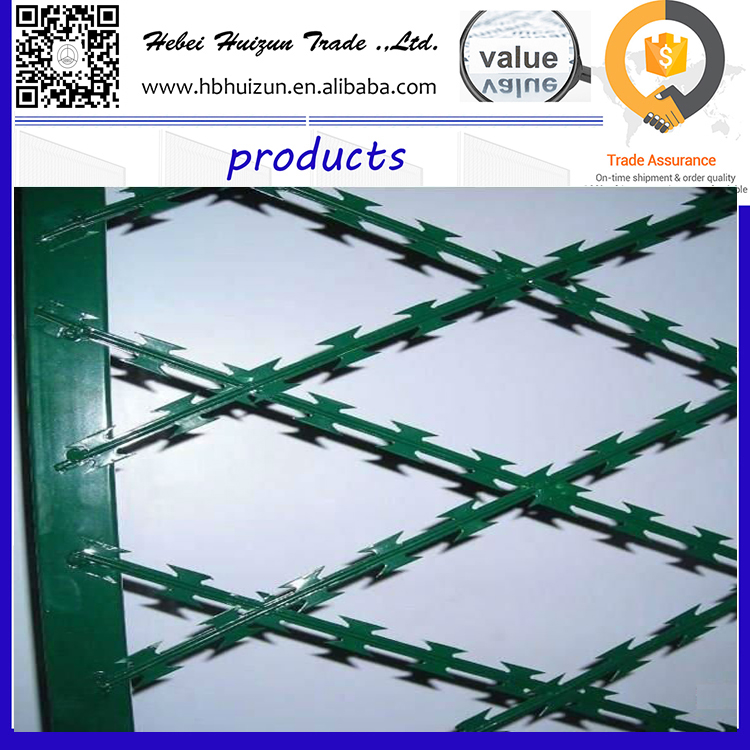 high safety ant-escape razor barbed wire mesh fence